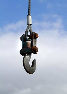 Industrial Lifting Hook Art Print by Science Photo Library