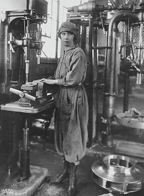 The Great War Photograph - Industrial Machine Operator by Hagley Museum And Archive