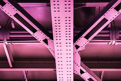 Component Photograph - Industrial Metal Purple by Alexander Senin