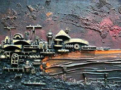 Painting - Industrial Port-part 1 By Rafi Talby by Rafi Talby