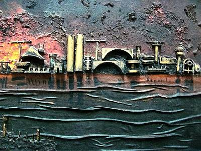 Painting - Industrial Port-part 2 By Rafi Talby by Rafi Talby