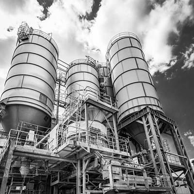 Photograph - Industrial Silos 2 by Gary Gillette