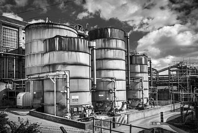 Industrial Silos. Art Print by Gary Gillette