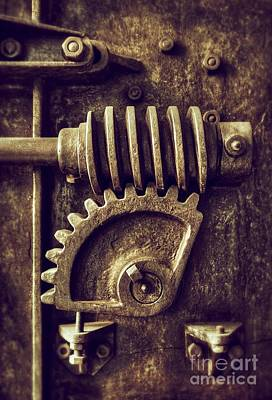 Gear Photograph - Industrial Sprockets by Carlos Caetano