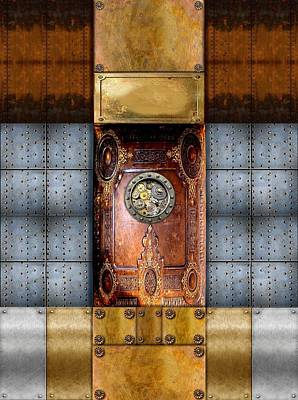 Steampunk Digital Art - Industrial Steampunk 1113 by Lisa A Bello