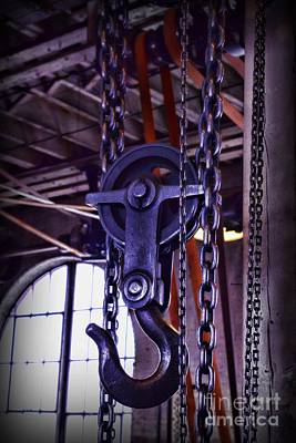 Machine Shop Photograph - Industrial Strength Chains by Paul Ward