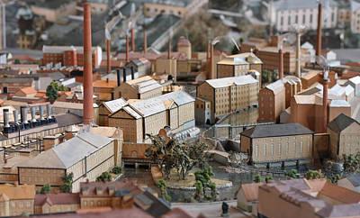 Industrial Town Miniature Model Art Print