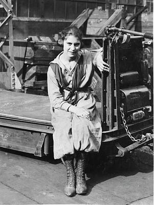 Capella Photograph - Industrial Truck Operator by Hagley Museum And Archive