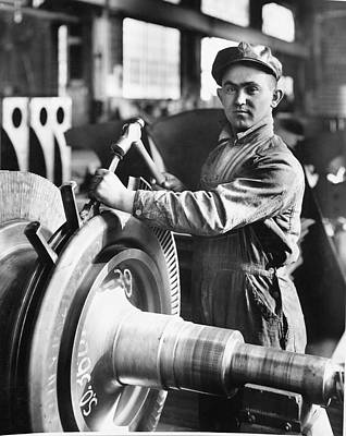 Machinery Photograph - Industrial Welder by Hagley Museum And Archive