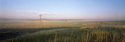 Industrial Windmill, Nebraska Art Print by Panoramic Images