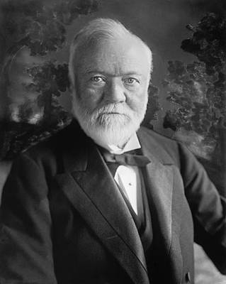 Industrialist Andrew Carnegie Art Print by Underwood Archives