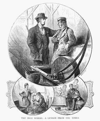 Industry And Idleness, 1876 Art Print by Granger
