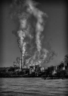 Fox River Photograph - Industry In Black And White 2 by Thomas Young