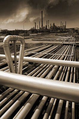 Industry Oil Gas And Fuel Art Print by Christian Lagereek