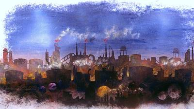 Painting - Industry Prevails by William Renzulli
