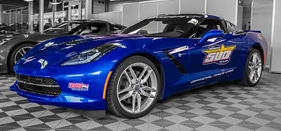 Indy 500 Corvette Pace Car Art Print