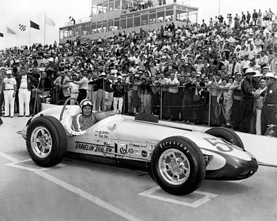 Indiana Photograph - Indy 500 Race Car by Underwood Archives