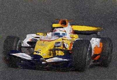 Indy Car 2 Art Print by Dennis Buckman