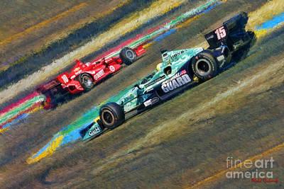 Indy Car Photograph - Indy Car's Graham Rahal by Blake Richards