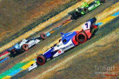 Indy Car Photograph - Indy Car's Mikhail Aleshin  by Blake Richards