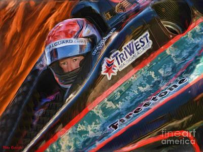 Indy Car Photograph - Indy Car's Ryan Briscoe by Blake Richards
