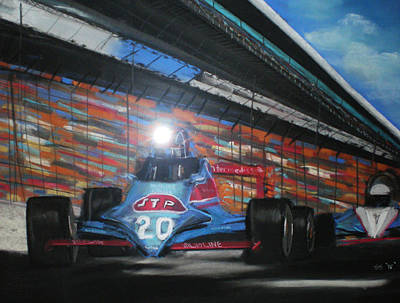 Indy Cars Art Print by Shannon Gerdauskas