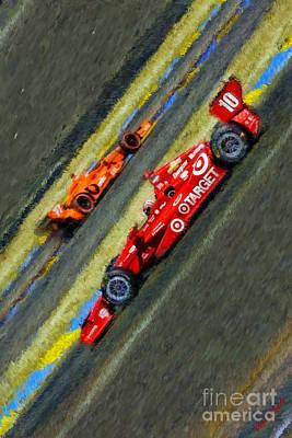 Indy Car Photograph - Indy Car's Tony Kanaan by Blake Richards