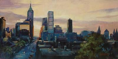 Indy City Scape Art Print