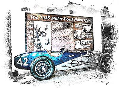 Indy Car Mixed Media - Indy Race Car 3 by Spencer McKain