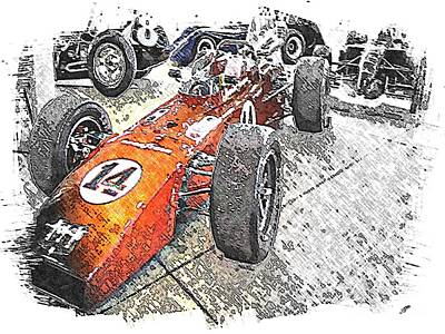 Indy Car Mixed Media - Indy Race Car 4 by Spencer McKain