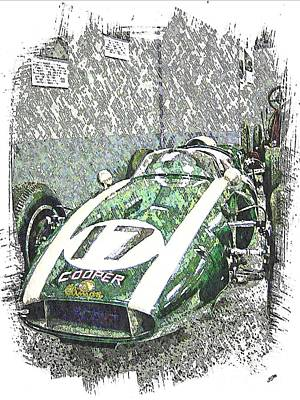 Indy Car Mixed Media - Indy Race Car 5 by Spencer McKain