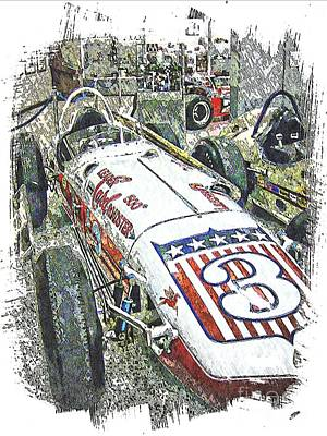 Indy Car Mixed Media - Indy Race Car 6 by Spencer McKain