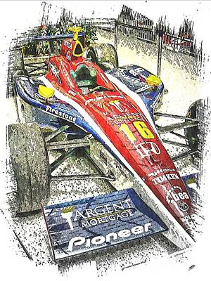 Indy Race Car 7 Print by Spencer McKain