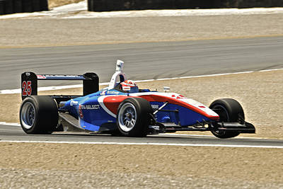 Indy Car Photograph - Indy Red White And Blue by Dave Koontz