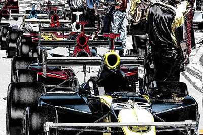 Indy Car Photograph - Indy Time by Kevin Cable