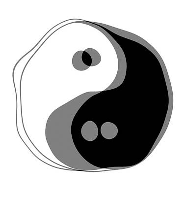 Drunk Digital Art - Inebriated Yin Yang by Daniel Hagerman