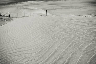 Sand Fences Photograph - Inevitable by Laurie Search