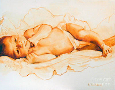 Painting - Infant Awake by Greta Corens