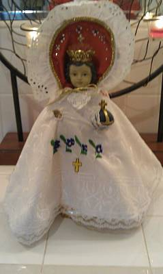 Infant Of Prague  8 Inch Vestment Holy Week  Original by Laurie Dedmon