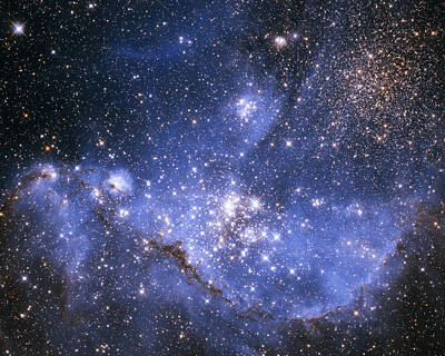 Infant Stars In The Small Magellanic Cloud Art Print by Nasa