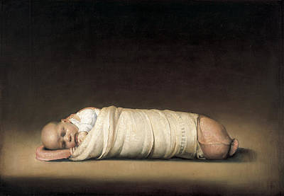 Clothed Painting - Infant by Odd Nerdrum