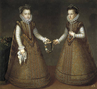 Sanchez Painting - Infanta Isabella Clara Eugenia And Catalina Micaela Of Spain by Alonso Sanchez Coello