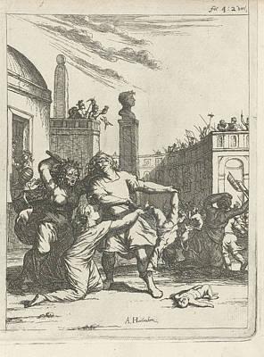 Infanticide In Bethlehem Arnold Houbraken Art Print