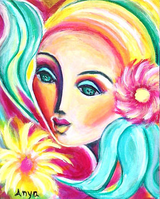 Art Print featuring the painting Infatuated by Anya Heller