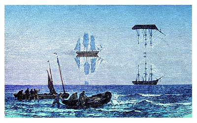 Ships Mast Photograph - Inferior And Superior Mirages by David Parker