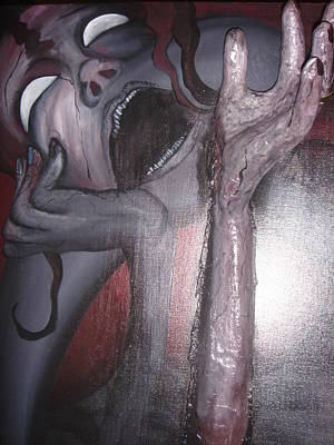 Fibercast Painting - Infidelity by Cherry  Meekins