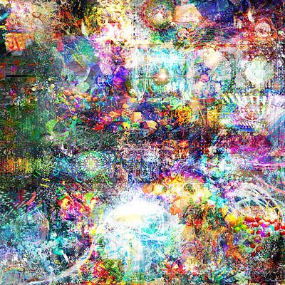 Fractal Other Worlds Digital Art - Infinite Bit 28 by Jerry Cannon