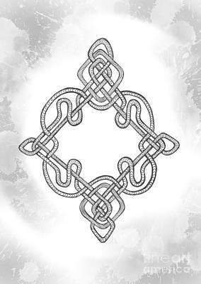 Copy Mixed Media - Infinite Knot by Oksana Khorkhordina