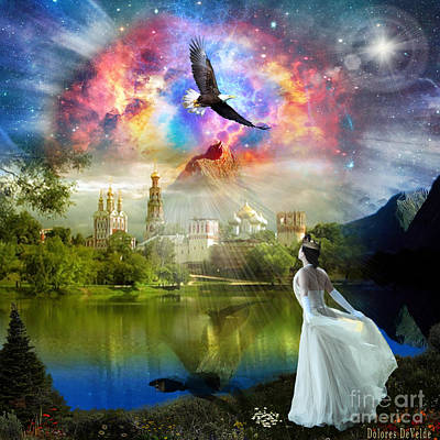 Holy Digital Art - Infinite Love by Dolores Develde