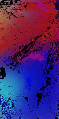 Drips Digital Art - Infinite M Panel #3 by Ryan Burton